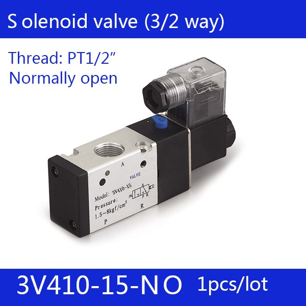 1PCS Free shipping Pneumatic valve solenoid valve 3V410-15-NO Normally open DC24V AC220V,1/2 , 3 port 2 position 3/2 way, 2pcs free shipping pneumatic valve solenoid valve 3v410 15 nc normally closed dc24v ac220v 1 2 3 port 2 position 3 2 way