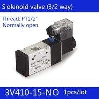 1PCS Free shipping Pneumatic valve solenoid valve 3V410 15 NO Normally open DC24V AC220V,1/2 , 3 port 2 position 3/2 way,