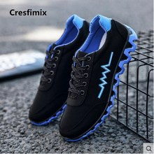 Cresfimix man fashion spring & autumn lace up blue anti skid shoes male casual street red shoes men leisure sneakers c2734