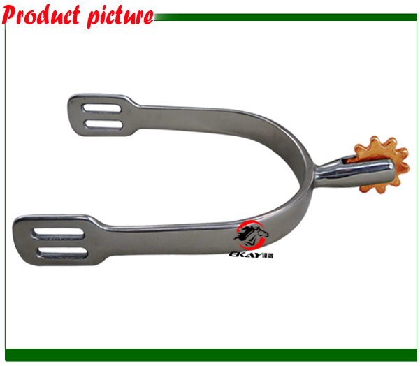 Free Shipping ,Stainless Steel Horse Spur,never Rusted English Spur.horse Product.(RSP6124)