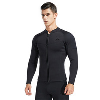 SBART 3MM wetsuit jacket men long sleeve neoprene front zipper surf Winter Swim Warm Surf Upstream size xxxL