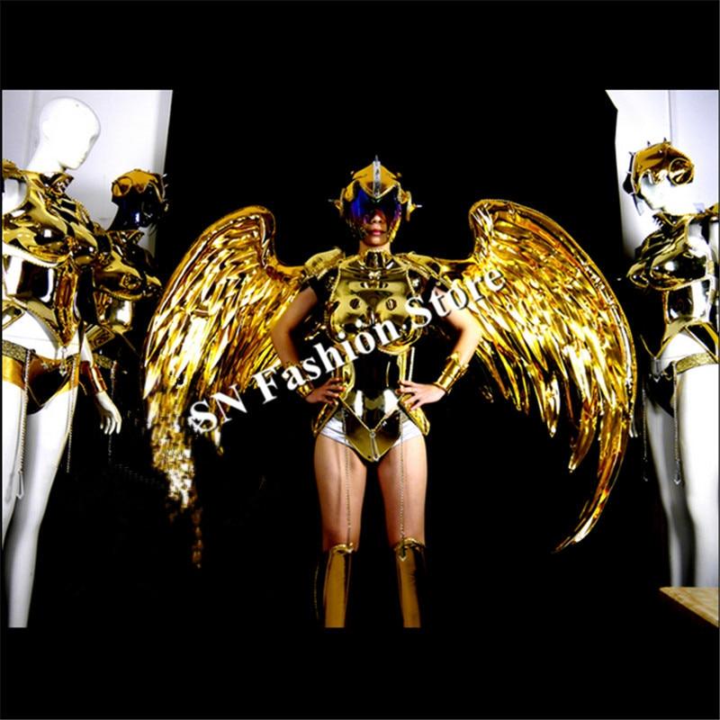 ES001 Vestido de baile de espejo dorado / disfraces / Ropa de alas de - Para fiestas y celebraciones - foto 1
