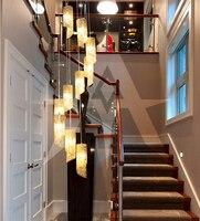 Arche licht Moderne 10 köpfe Aluminium Draht kanüle Pendelleuchte LED hängeleuchte treppe wohnzimmer lichter