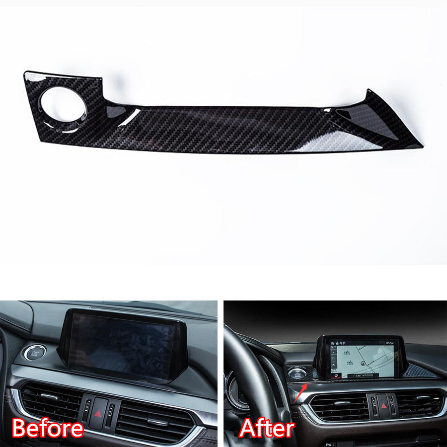 YAQUICKA For Mazda 6 Atenza 2017 18 Car Interior Accessories Dashboard GPS Navigation Strip Engine Start Stop Cover Sticker Trim in Interior Mouldings from Automobiles Motorcycles