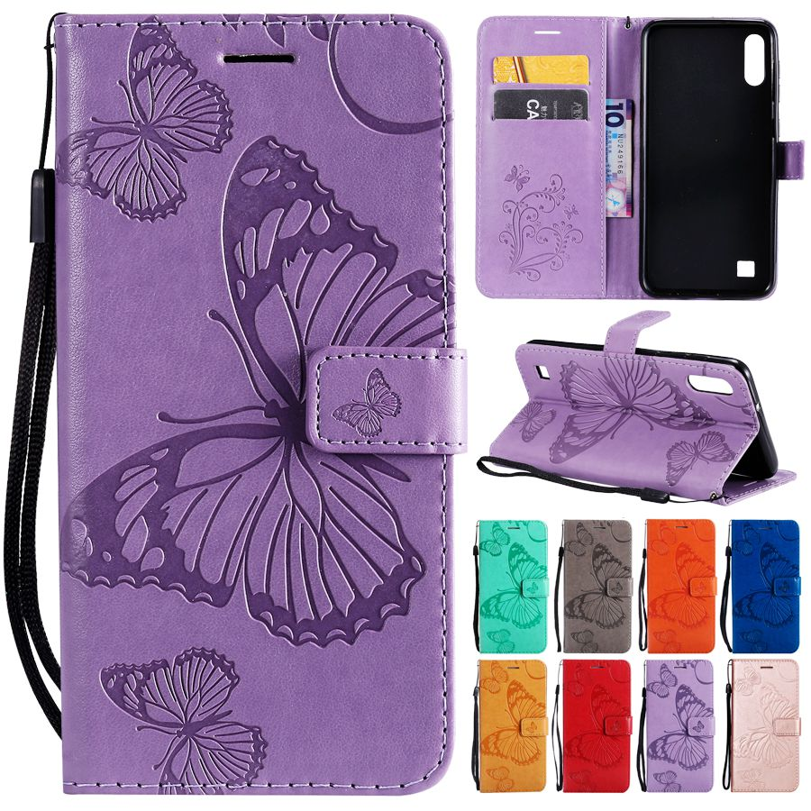 Butterfly Case on for Samsung Galaxy A30 Leather Cover for Fundas Samsung A10 A20 A30 A40 A50 A70 Case Flip Wallet Phone Cases