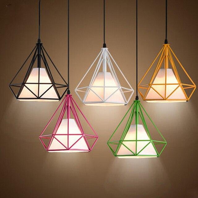 Modern Art Vintage Diamond shape LED Pendant Lights Ceiling Chandelier Pendant lamps Home Decorative Restaurant Bar Club Light