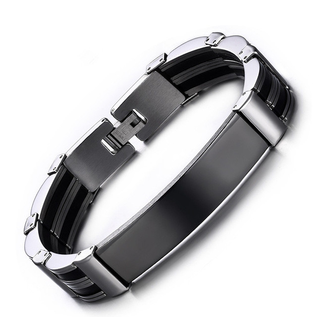 Popular 316L stainless steel men's jewelry personalized titanium steel Bracelet 21.5CM