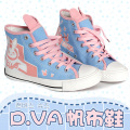 Game OW  d.va over and watch D.VA/ Tracer/Mercy Cosplay Boots Flat Heel Custom Shoes Size 36-39 in stock free shipping
