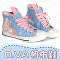 Juego OW d. va una y ver D. VA/Trazador/Misericordia Cosplay Botas Talón Plano Personalizado Tamaño de los zapatos 36-39 en el envío libre