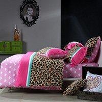 Fadfay Текстиль для дома 100% хлопок Роскошные Леопардовый Постельное бельё розовый синий Пододеяльник комплект Queen Размер 4 шт