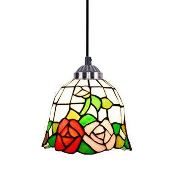 Lámpara de techo Pastoral Tiffany Vintage clásica, lámpara de techo para comedor, luces colgantes para pasillo y balcón