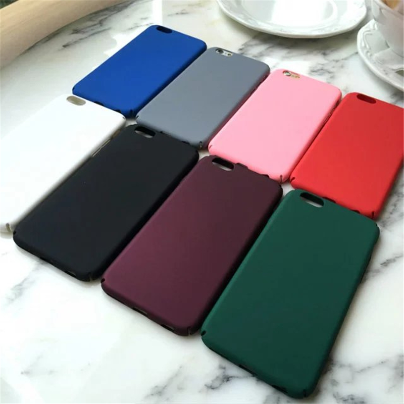 Pink luxury For iphone 6 case plastic Blue Hard Back cover Case for iphone 6 6s plus black 5 5s se Phone Case free shipping