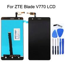 """5 """"شاشة الكريستال السائل شاشة ل zte بليد V770 LCD + محول الأرقام بشاشة تعمل بلمس مكونات ملحقات الهاتف المحمول 100% اختبار شحن مجاني"""