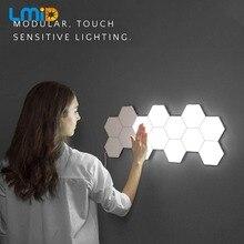 量子ランプタッチセンサー照明夜の光磁気六角形クリエイティブ装飾壁ランパラレストラン結婚