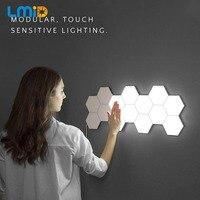 Quantum Lamp Aanraakgevoelige Verlichting Nachtlampje Magnetische Zeshoeken Creatieve Decoratie Muur lampara Voor Restaurant Trouwen