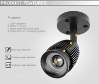 новый зум пятно света кри чип початка 3 вт 3000 к 4000 к 6000 к поверхностного монтажа светодиодный прожектор музей шкафы освещение 110 в 220 в