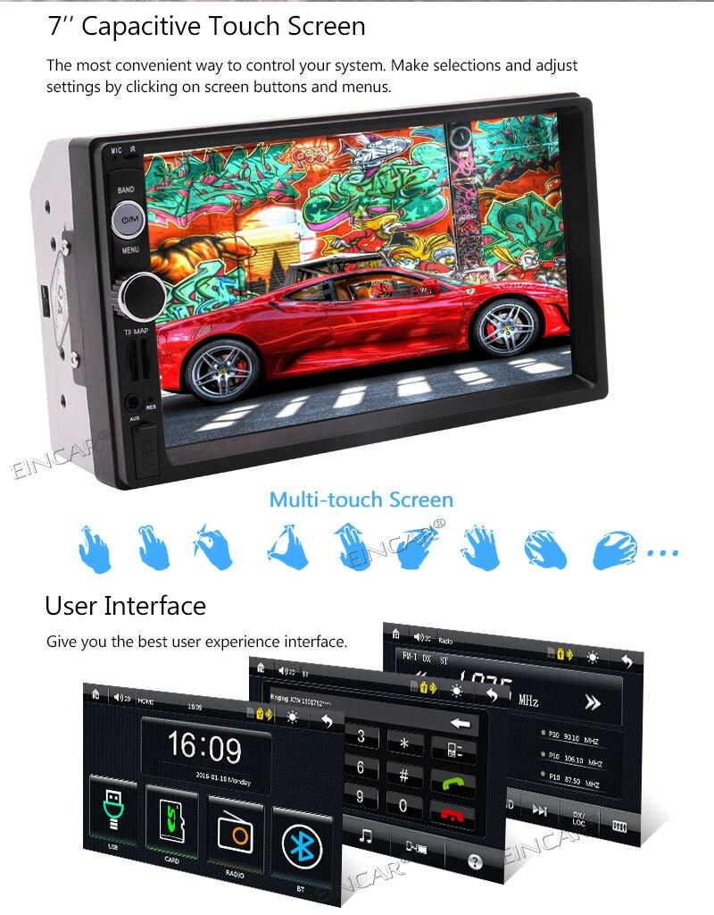 Automotive Steuergerät USB SD FM Lenkrad Fernbedienung Auto PC Navigator Mp5 Video Player Wiereless Kamera Optional Kostenloser 8 GB
