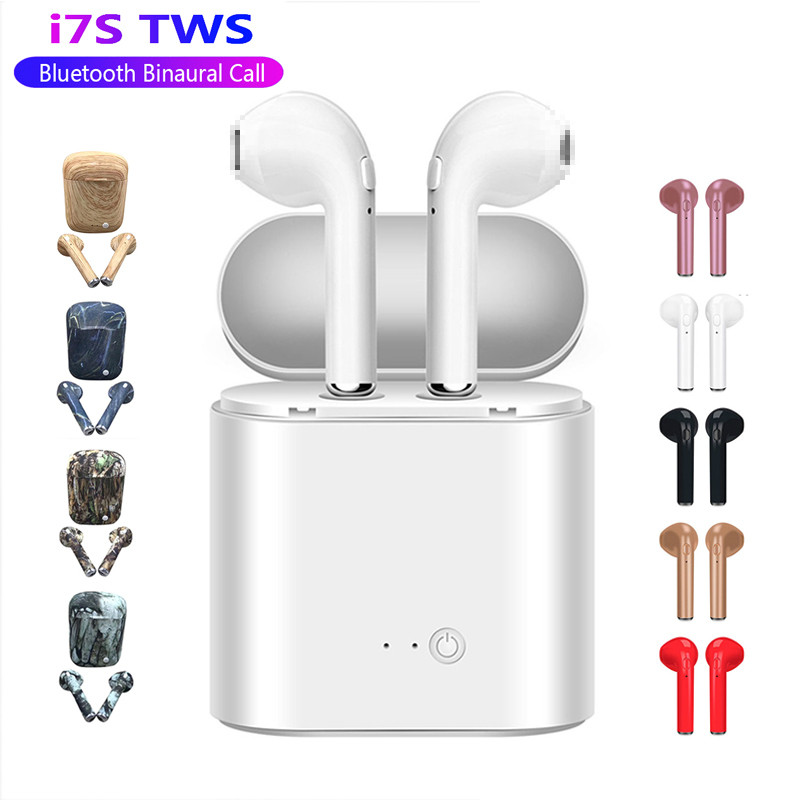 I7s TWS Bluetooth Earphone Stereo Earbud Bluetooth Headset With Charging Pod Wireless Headsets For All Smart Phone(China)