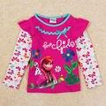 Ropa de los niños niñas cabritos de la camiseta ropa de moda anna elsa ropa de primavera/otoño de manga larga camiseta para el bebé chicas enfant
