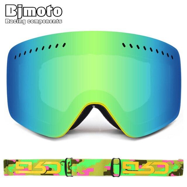 2cd3ce6e0061 BJMOTO Sking snowboard goggles double lens UV anti-fog ski goggles mask glasses  Goggles Winter
