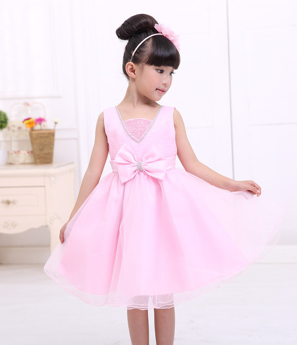77de2f919a Cute pink dress casual clothing child little girl princess dress tutu dress  cake style-in Dresses from Mother   Kids on Aliexpress.com