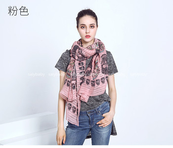 2020 Fashion Skull Scarf Cotton Voile Women Scarf Shawl Wraps Hijabs Wholesale Scarf