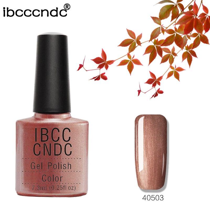 2018 Envío gratis 79 colores IBCCCNDC Fashion Nail Gel Shining Nail Polish Barniz LED y UV Lámpara de curado de uñas coloridas 40503