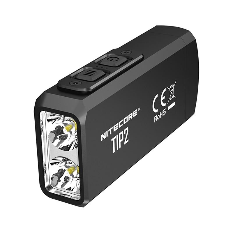 2019 NITECORE TIP2 Mini LED Flashlight CREE XP-G3 S3 720 lumen Keychain Flashlight with Battery +USB Rechargeable