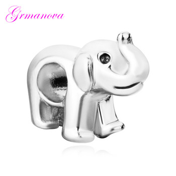African Prairie Animal Elephant Charm Beads Manual DIY Jewelry Accessories Amulet Fit Pandora Bracelet Necklace image