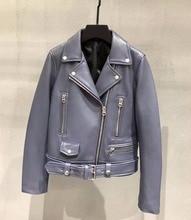 Women genuine leather short coat high quality real sheepskin jackets womens biker G151a