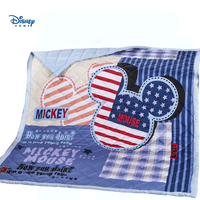 mickey mouse summer quilt single twin queen size America Flag striped star quilted bedspreads children bed cover boy home decor