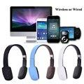 Plegable Sin Hilos Atado Con Alambre 3.5mm Casco Auricular Bluetooth 4.1 Con Un Toque de Luz Escalable Música Auriculares Para El Teléfono de PC de la Computadora del Juego