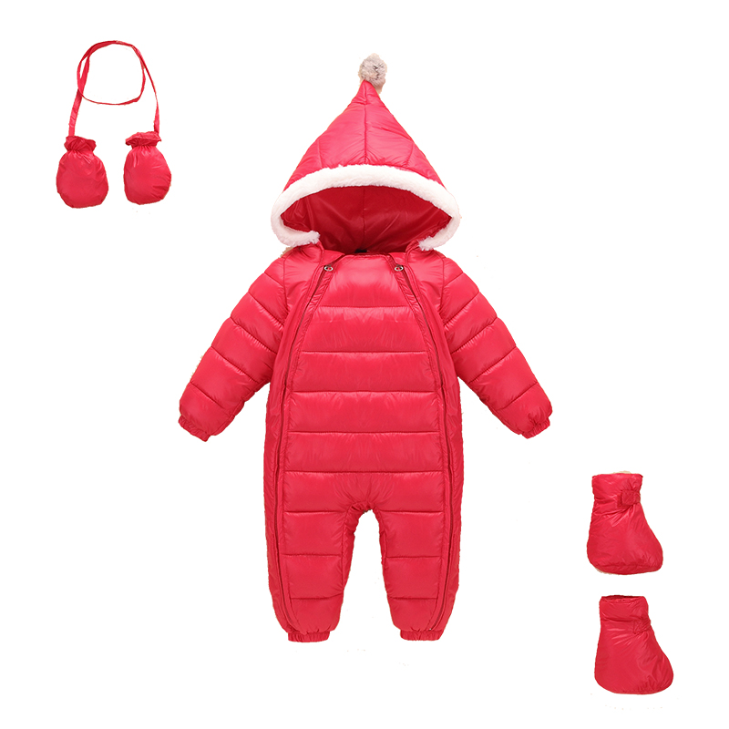 New Born Winter Baby Romper Onesie Overalls Fleece Lining Duck Down Jumpsuit Newborn Toddler Boy Girl Clothes Costume Infantil newborn infant baby romper cute rabbit new born jumpsuit clothing girl boy baby bear clothes toddler romper costumes