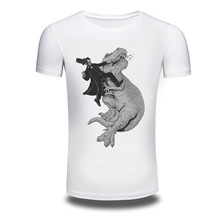 New Fashion 3D Print Dinosaur Personalized Printed Tide Brand Men's Short Sleeve T Shirt Casual Hip Hop Tops Tees Summer Style