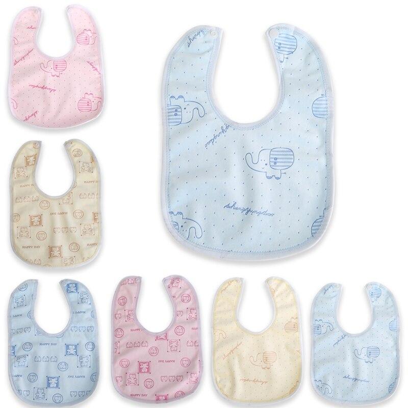 Random Style Baby Bib Velvet Waterproof Baby Care Feeding Printing Bibs Towel