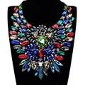 Joyería de moda Brillante de Cristal de Cristal de Lujo Declaración Rhinestone Collar De Racimo
