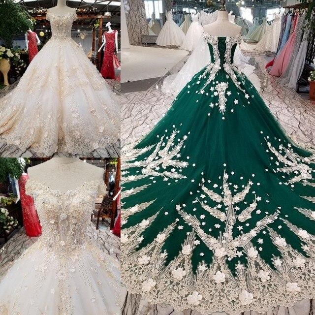 Us 445 9 9 Off Mewah Chamapgne Bahu Bola Gaun Pernikahan Gaun 2019 Custom Made Glitter Muslim Gaun Pernikahan Pernikahan Di Wedding Dresses Dari