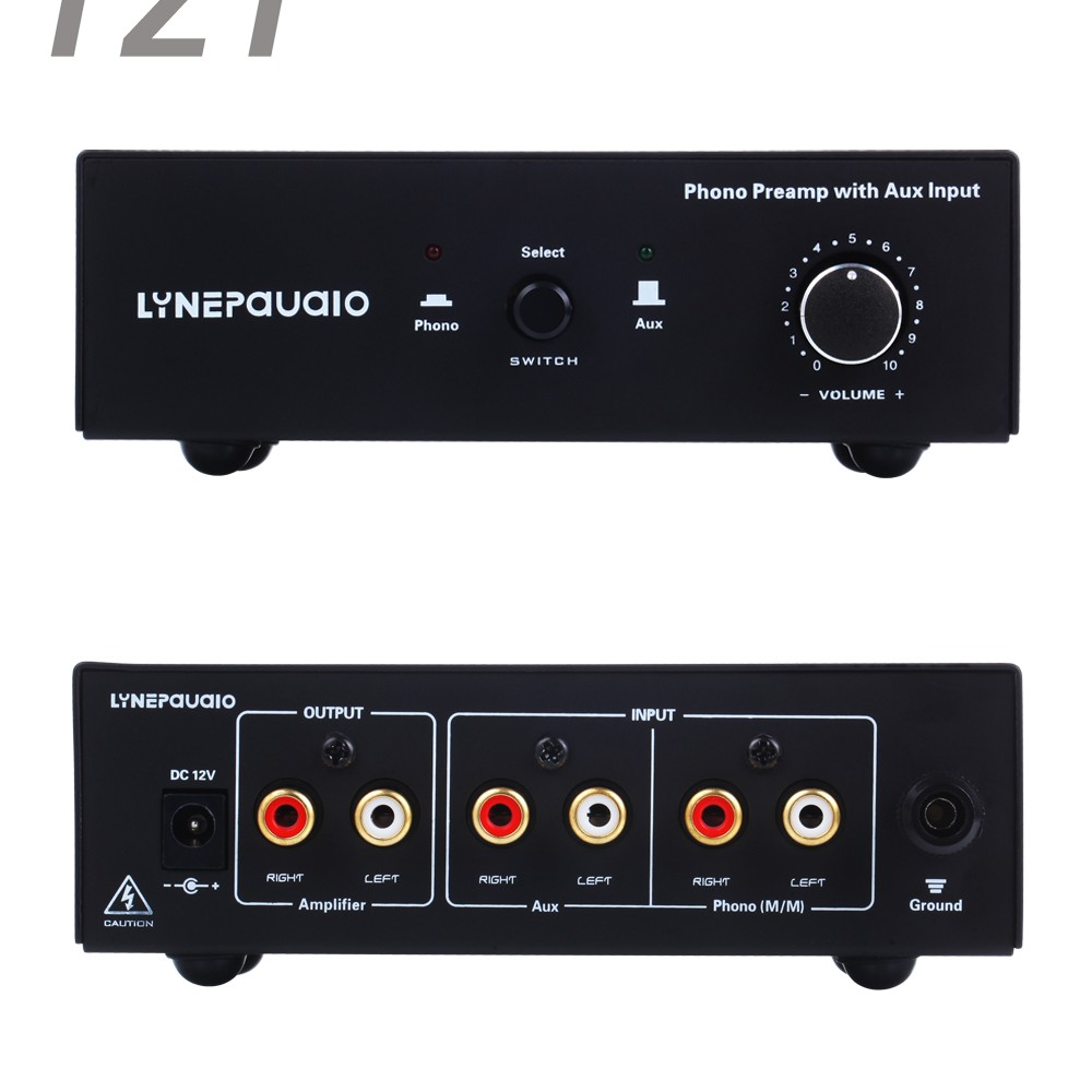 Przedwzmacniacz gramofonowy przedwzmacniacz Prephonograph wzmacniacz sygnału z dodatkowym wejściem i regulacją głośności w Wzmacniacz od Elektronika użytkowa na AliExpress - 11.11_Double 11Singles' Day 1