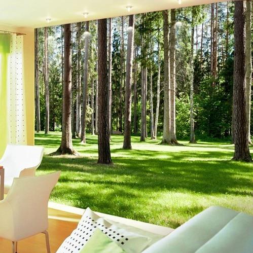 Customized large mural 3D wallpaper bedroom living room sofa backdrop restaurant sunlight forest landscape 3D wallpaper custom baby wallpaper snow white and the seven dwarfs bedroom for the children s room mural backdrop stereoscopic 3d