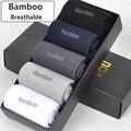 Nuevos calcetines de fibra de bambú para hombre, de alta calidad, Casual, antibacteriano, calcetín largo 5 par/lote