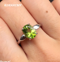 KJJEAXCMY Fine Jewelry Colorful Jewelry 925 Silver Inlaid NATURAL PERIDOT Female Ring Simple And Generous Wholesale