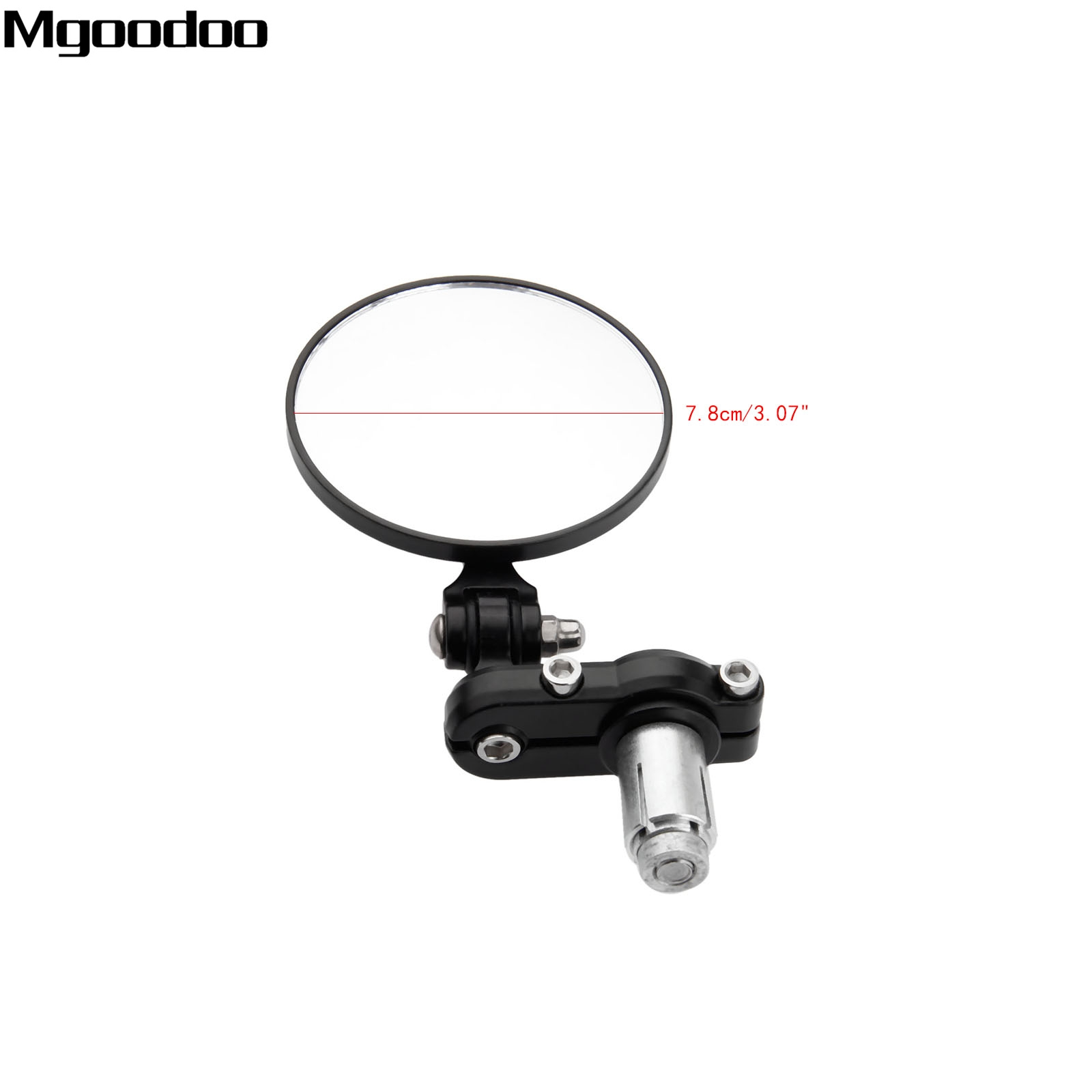 Black Motorcycle 3 quot Round Side Mirror 7 8 quot Handle Bar End Mirrors Rearview Retrovisor Moto For Cafe Racer Motorcycle Accessories in Side Mirrors amp Accessories from Automobiles amp Motorcycles