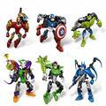 A Aliança Vingadores Capitão América Homem De Ferro Batman Joker Hhulk Lanterna Verde Montar Modelo Robôs Brinquedos Para Crianças dos miúdos