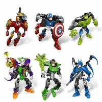 The Avengers Alliance Captain America Iron Man Batman Hhulk Green Lantern Joker Assemble Model Robots Toys