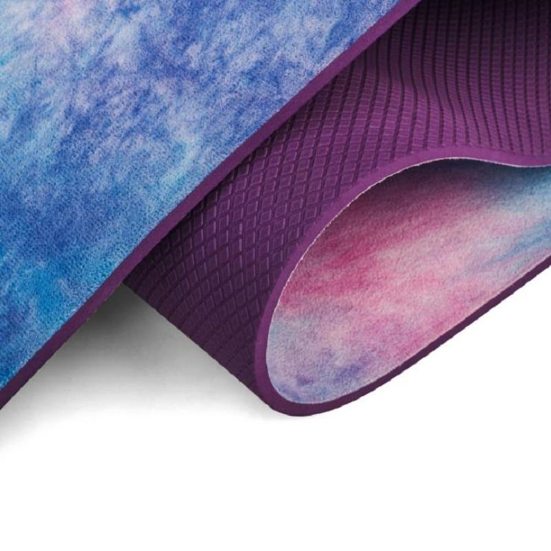 Tapis de Yoga sport Gym 5mm daim Tie-colorant antidérapant Fitness perte de poids Pilates mince tapis de Yoga aérobie Camping exercice tapis de Massage - 6