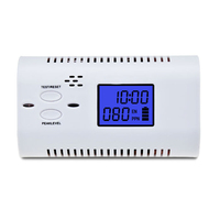 Carbon Monoxide Detector With LCD Display Voice Prompt CO Gas Tester Warning Sensor Clock Home Security