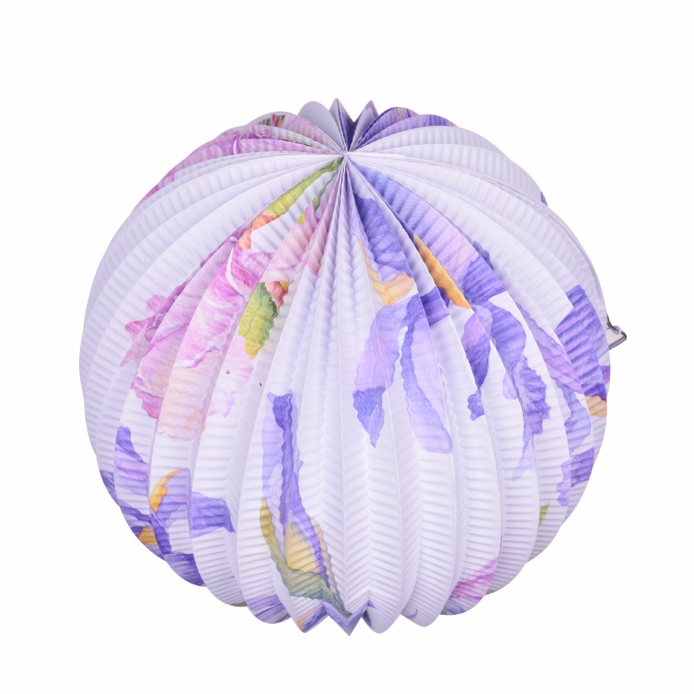 Paper Lanterns Wedding Decoration Ideas: Paper Lantern 23cm Round Paper Lanterns Lamp Purple For