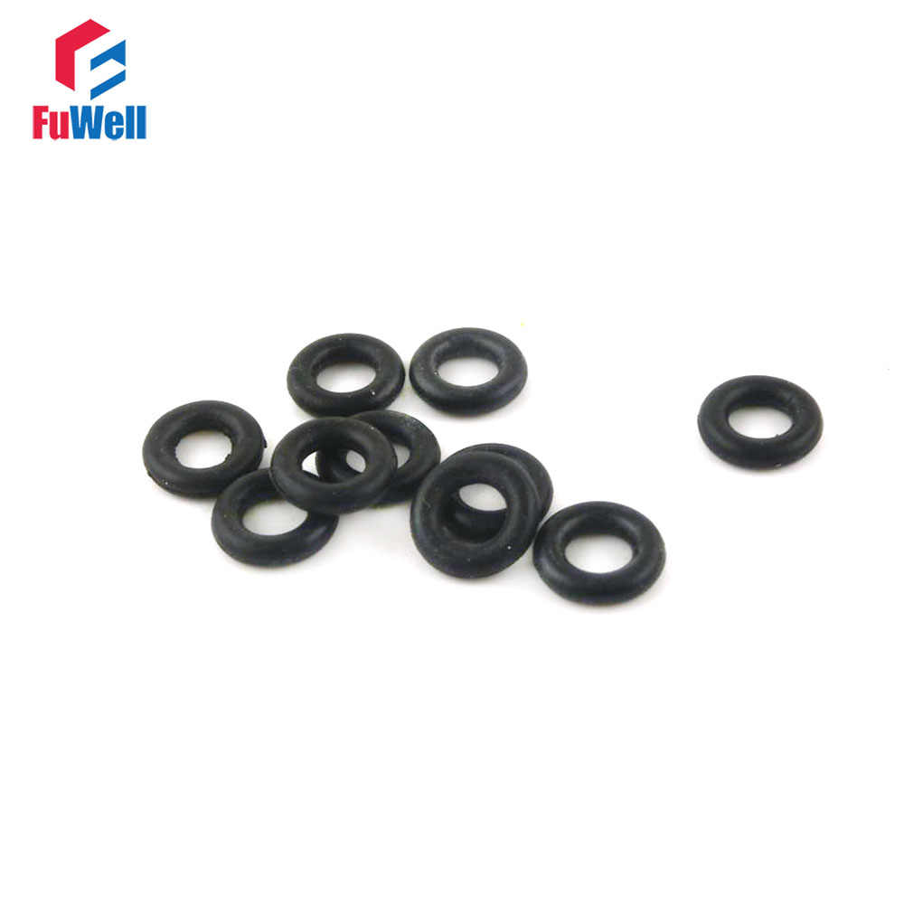 O-ring 2.0mm Wire Diameter 28mm-80mm OD NBR Rubber Oil Resistant Sealing Ring