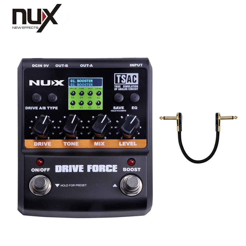 NUX Guitar Effect Pedal/ Stomp Boxes/Force series/DRIVE FORCE Modeling Stomp Simulator/best guitar pedal Wholesale nux simulator polyphonic roctary force octave stomp boxes electric guitar effect pedal fet buttered tsac true bypass