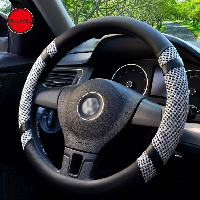 1pc anti slip leather car steering cover fit for 38cm 15inch1pc anti slip leather car steering cover fit for 38cm 15inch steering wheel wrap protector cool viscose steering wheel cover